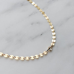 6.0 Size Coin Sequin Choker Necklace - Cultured Lady