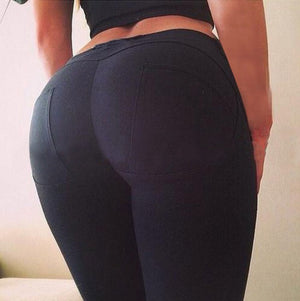 Sexy High Quality Low Waist Push Up Elastic Casual Bodybuilding Fitness  Leggings - Cultured Lady