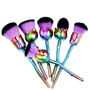 Rose Gold Pink Makeup Brushes Set - Cultured Lady