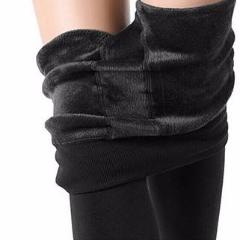 Women Winter Warm High Waist Thick Velvet Leggings - Cultured Lady