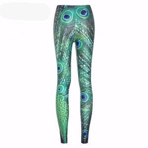 Woman Slim Knitted Print Stretch Fitness Leggings - Cultured Lady
