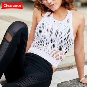 Summer Mesh Hollow Out Yoga Top Sleeveless - Cultured Lady