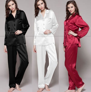 Womens Silk Satin Pyjamas Set Sleepwear  Loungewear Fits For all Season  (Available  S to 3XL) - Cultured Lady