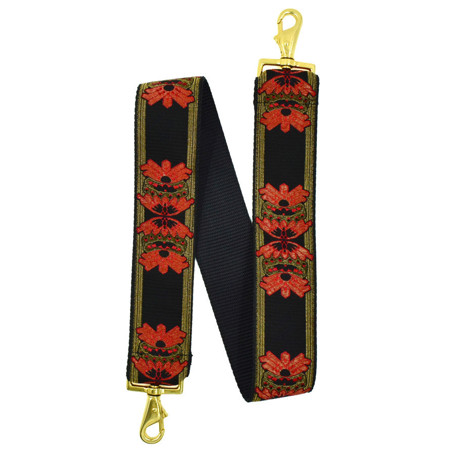 Bernice Strap - Black/Red