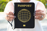 PASSPORT PU Leather Clutch (Pre-Order)