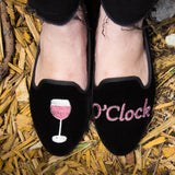 """Wine O'Clock"" Suede Loafers"