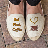 """But First, Coffee"" Espadrilles"