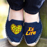 """Pizza Is Life"" Espadrilles"
