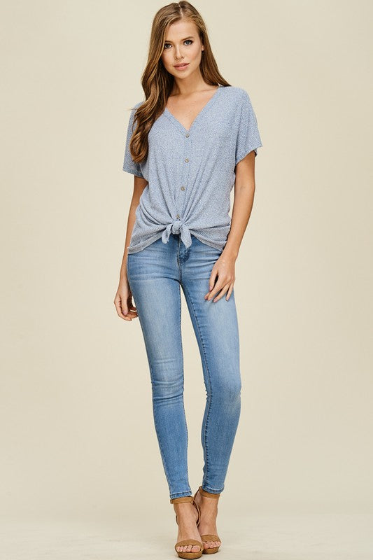 Whitney Top (ribbed-soft blue)