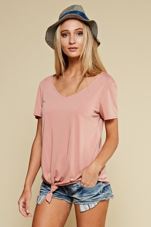 Soft Knot Tee (blush)