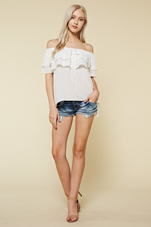 Flirty Summer Top (white)