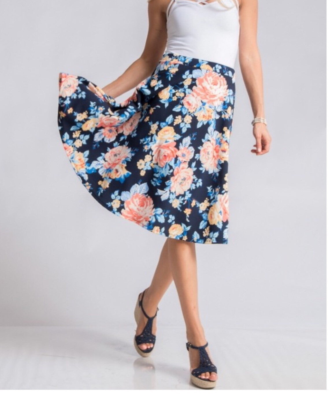 Spring Swing Skirt (navy)