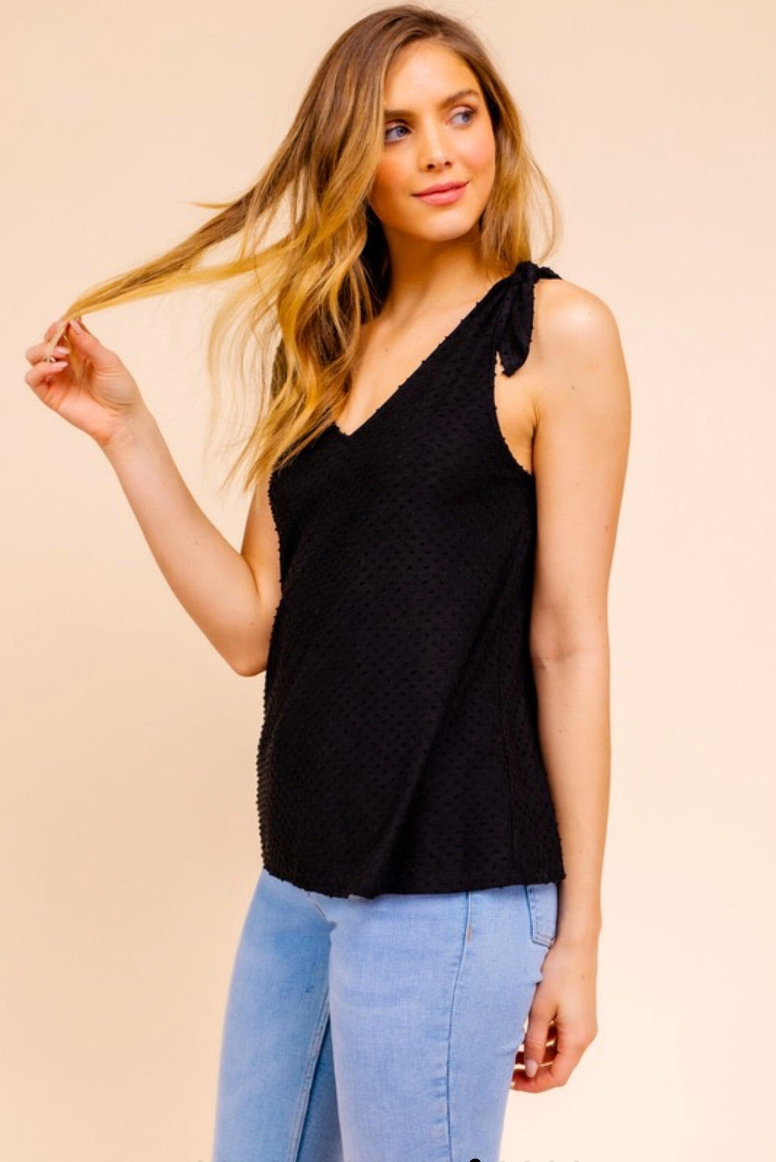 Shoulder Tie Top (black)