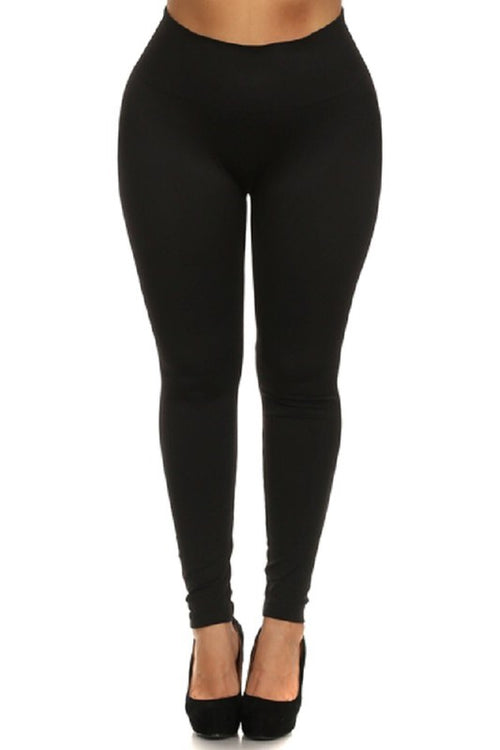 Curvy Ultra Soft Brushed Leggings (black)