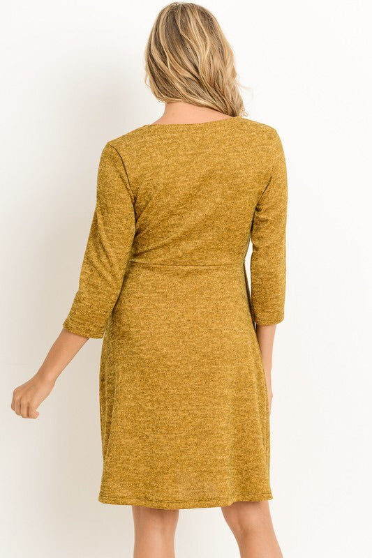 Avery Dress (heathered mustard)