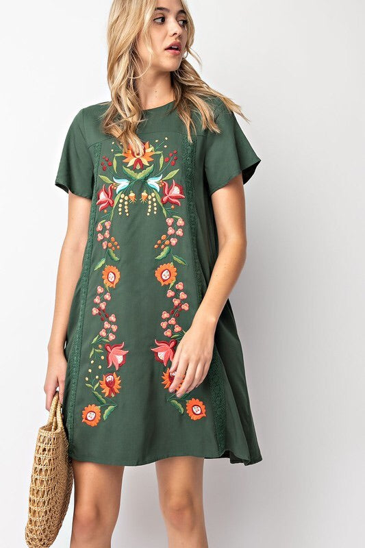 Summer Love dress (olive)