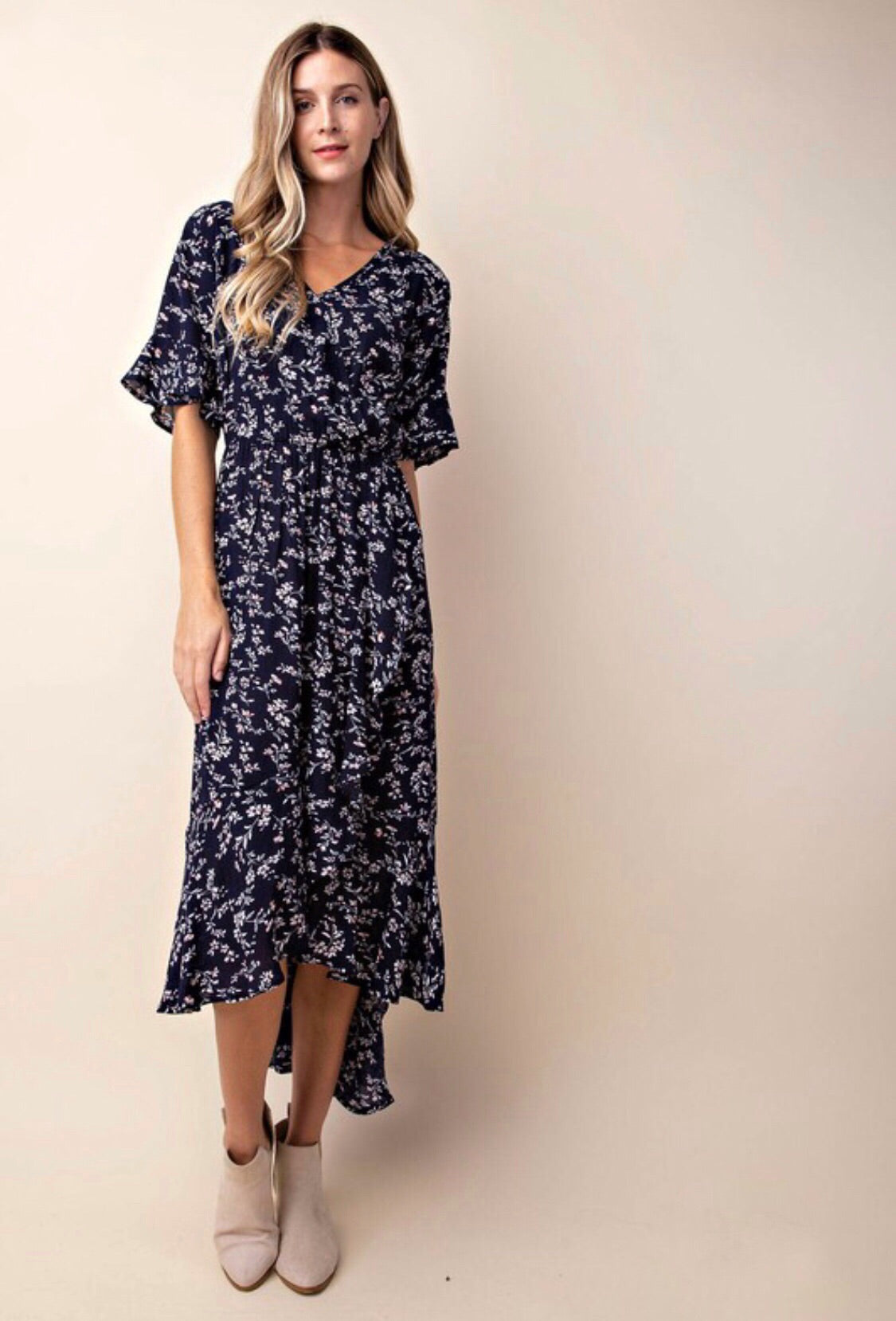Raquel dress (navy)
