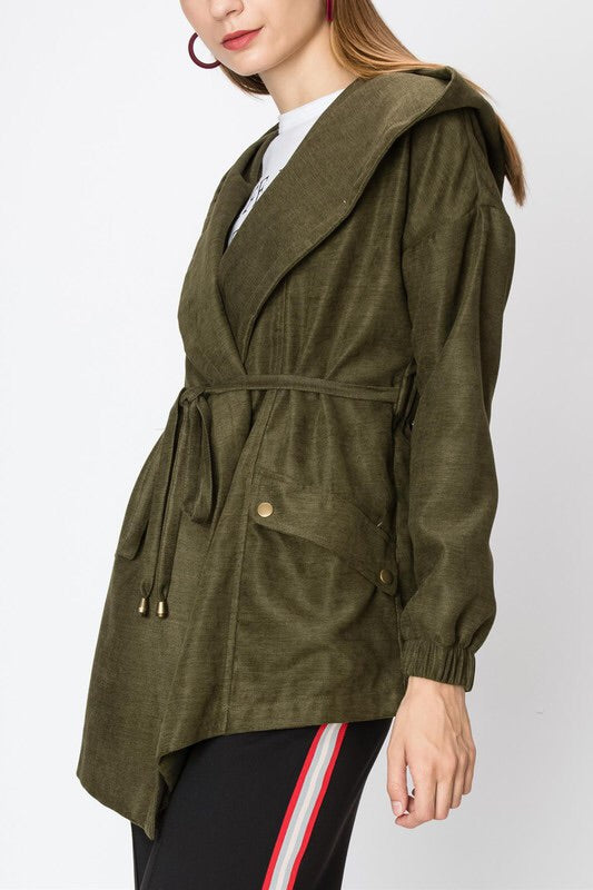 Olive Hooded Jacket