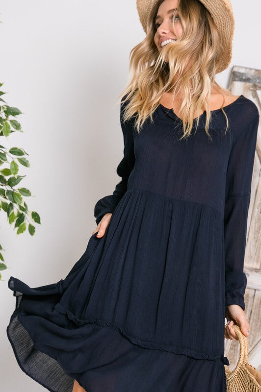 Layla dress (navy)