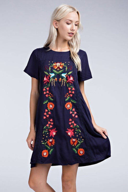 Summer Love dress (navy)