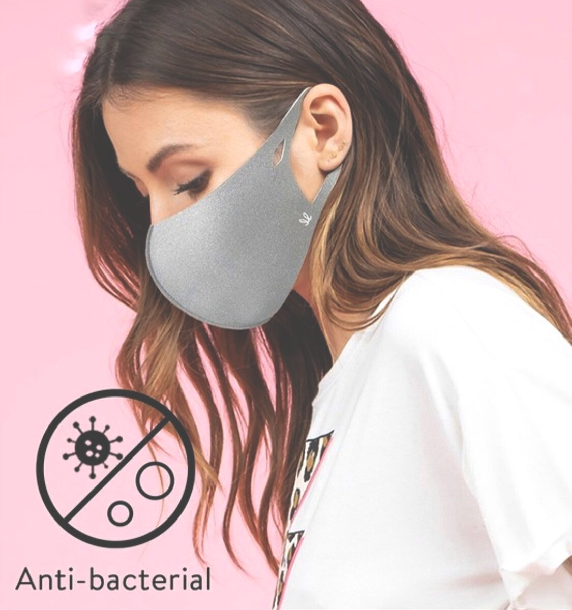 Antibacterial Mask, gray (Adult)