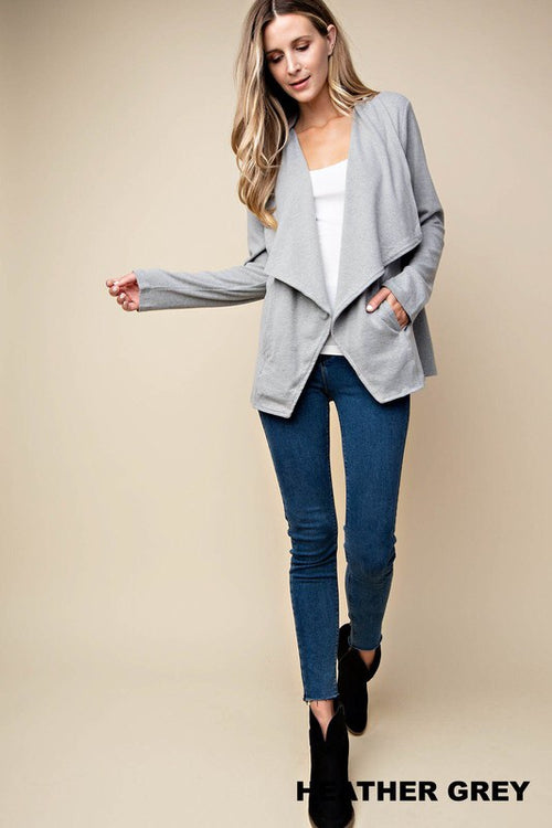 Hampton Cardi (heather gray)