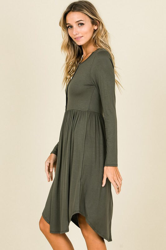 Harper Dress (olive)