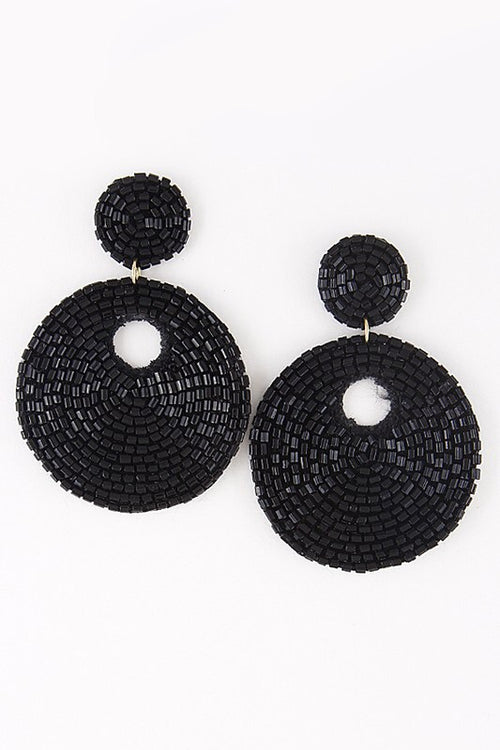 St. Lucia earrings (black)