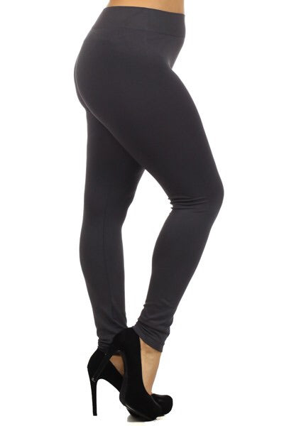 Curvy Ultra Soft Brushed Leggings (charcoal)