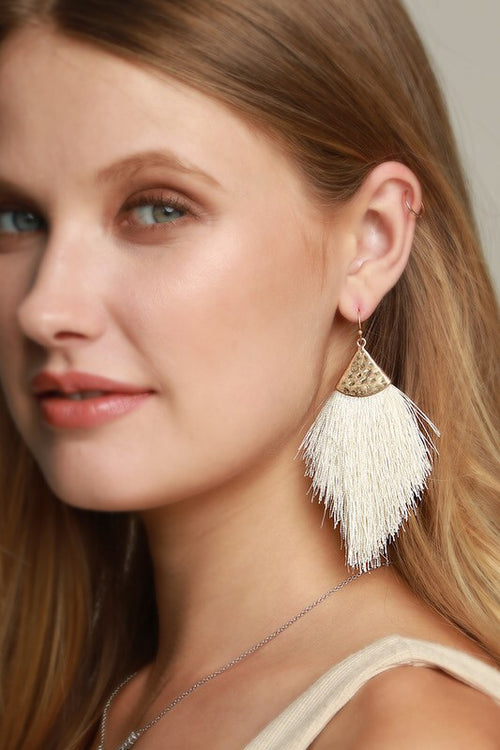Havana earrings (cream)