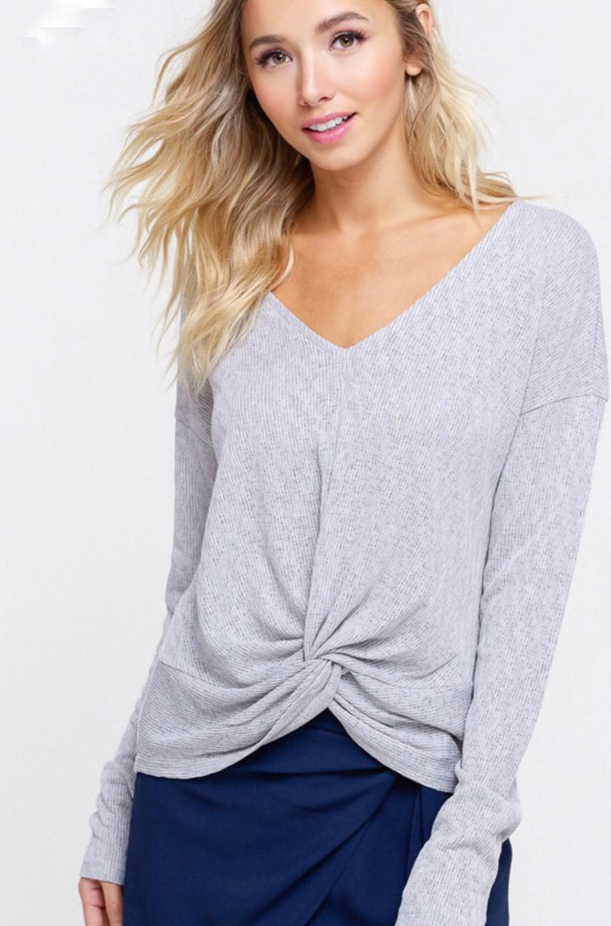Caroline top (soft gray)