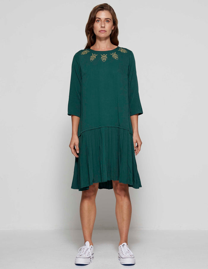 Frances Dress - Forrest Green
