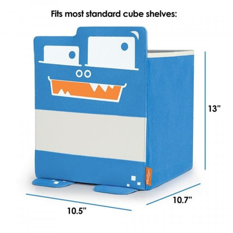 Mess Eaters: Cube Shelf Storage Bin - Blue