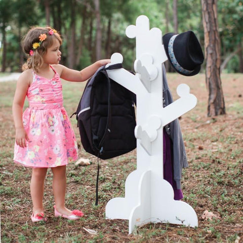 Little One's Clothes Tree - White