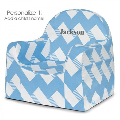 Little Reader Toddler Chair - Chevron Blue