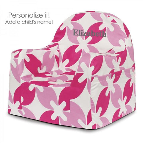 Little Reader Chair - Pink Leaves
