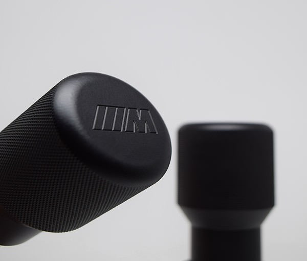 "BMW SHIFT KNOB - EURO IMPULSE WEIGHTED BILLET SHIFT KNOB - BLACK - (""///M"") W/ADAPTER"