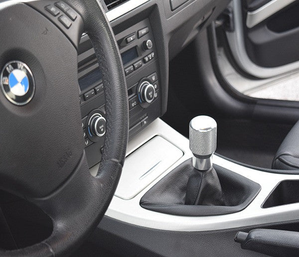 "BMW SHIFT KNOB - EURO IMPULSE WEIGHTED BILLET SHIFT KNOB - SILVER - (""5-SPD"") W/ADAPTER"