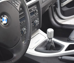 "BMW SHIFT KNOB - EURO IMPULSE WEIGHTED BILLET SHIFT KNOB - SILVER - (""6-SPD + ///M"") W/ADAPTER"