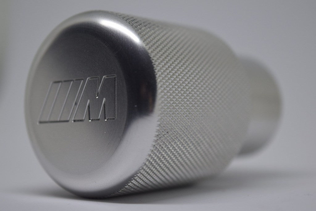"BMW SHIFT KNOB - EURO IMPULSE WEIGHTED BILLET SHIFT KNOB - SILVER - (""///M"") W/ADAPTER"