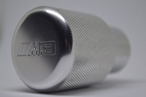 "BMW SHIFT KNOB - EURO IMPULSE WEIGHTED BILLET SHIFT KNOB - SILVER- (""///M3"") W/ADAPTER"