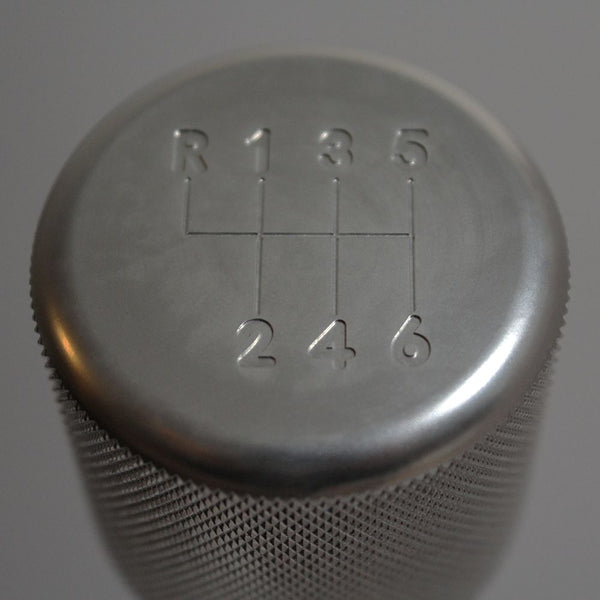 "BMW SHIFT KNOB - WEIGHTED BILLET SHIFT KNOB - SILVER - (""6-SPD"")"