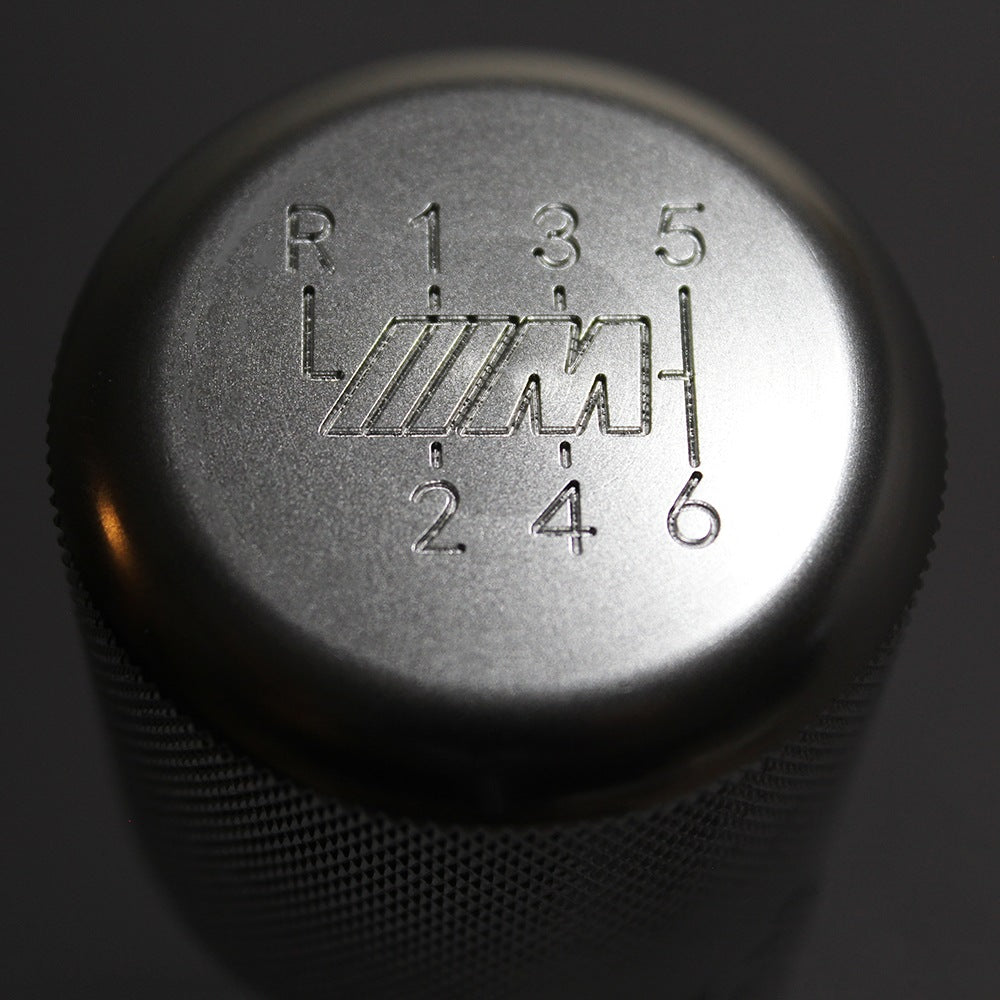 "BMW SHIFT KNOB - WEIGHTED BILLET SHIFT KNOB - SILVER - (""6-SPD + ///M"")"