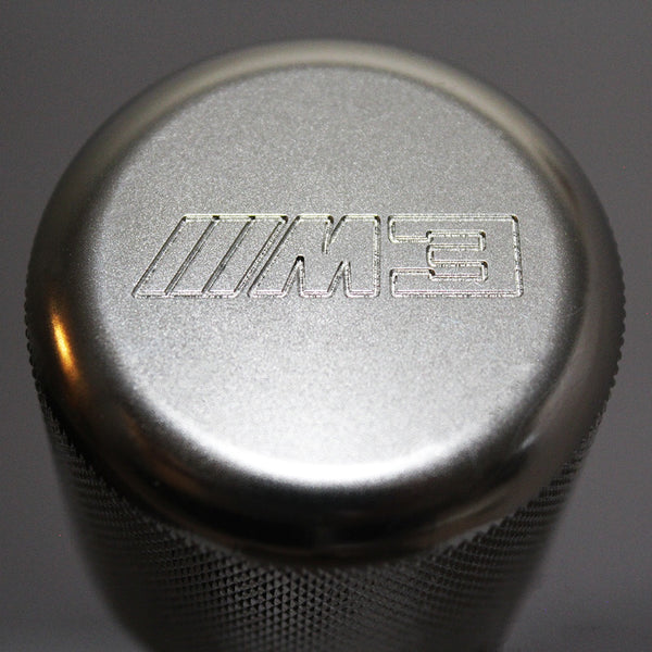 "BMW SHIFT KNOB - WEIGHTED BILLET SHIFT KNOB - SILVER- (""///M3"")"