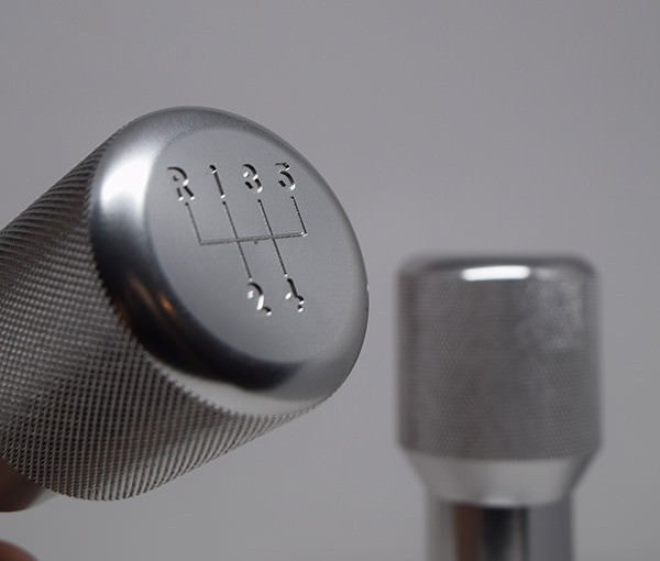 "Shift Knobs - EURO IMPULSE WEIGHTED BILLET SHIFT KNOB- SILVER- (""5-SPD"") W/ ADAPTER"