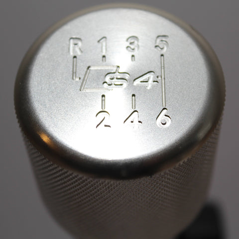 "Shift Knobs - EURO IMPULSE WEIGHTED BILLET SHIFT KNOB- SILVER- (6-SPD + ""S4'') W/ ADAPTER"