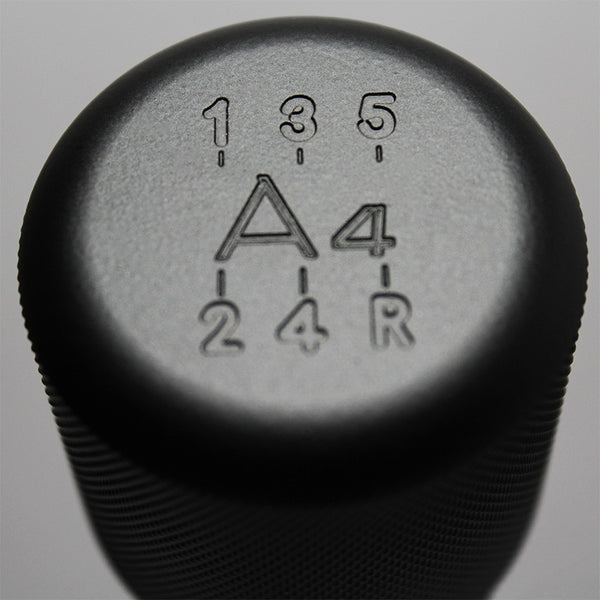 "Shift Knobs - WEIGHTED BILLET SHIFT KNOB- BLACK- (5-SPD+""A4"")"
