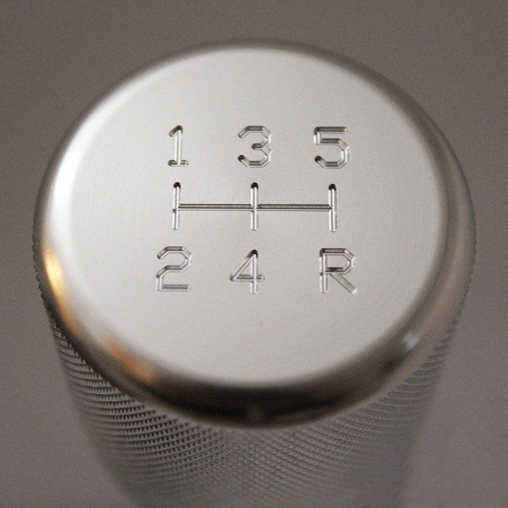 Shift Knobs - WEIGHTED BILLET SHIFT KNOB- SILVER- (5-SPD)