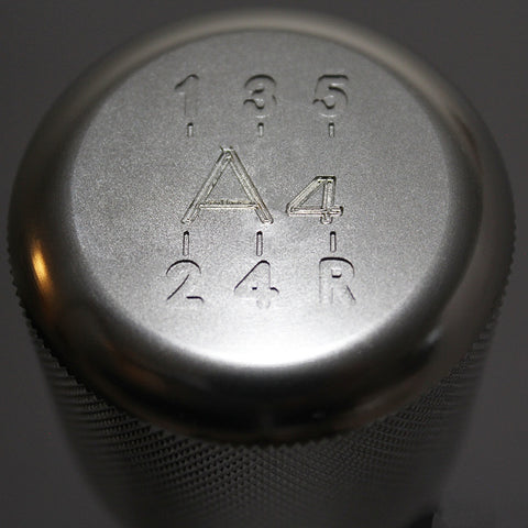 "Shift Knobs - WEIGHTED BILLET SHIFT KNOB- SILVER- (5-SPD+""A4"")"
