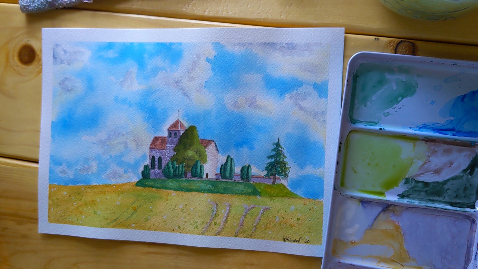 Painting A French Church